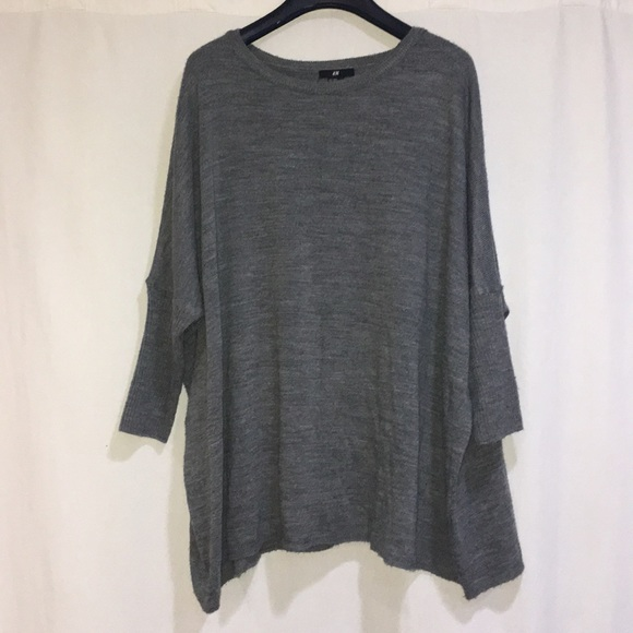 H&M Sweaters - CHARCOAL GRAY OVER SIZED SWEATER